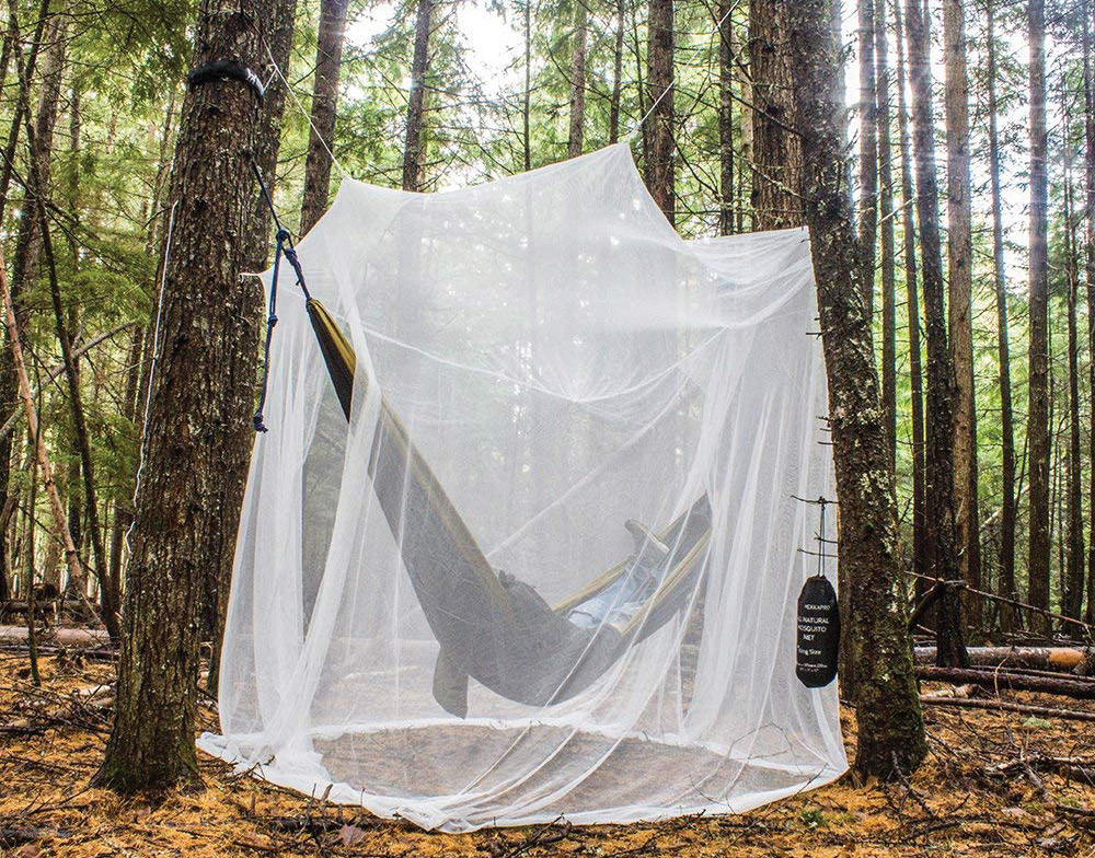 A mosquito net is a good idea if you're in a hammock in the summer.