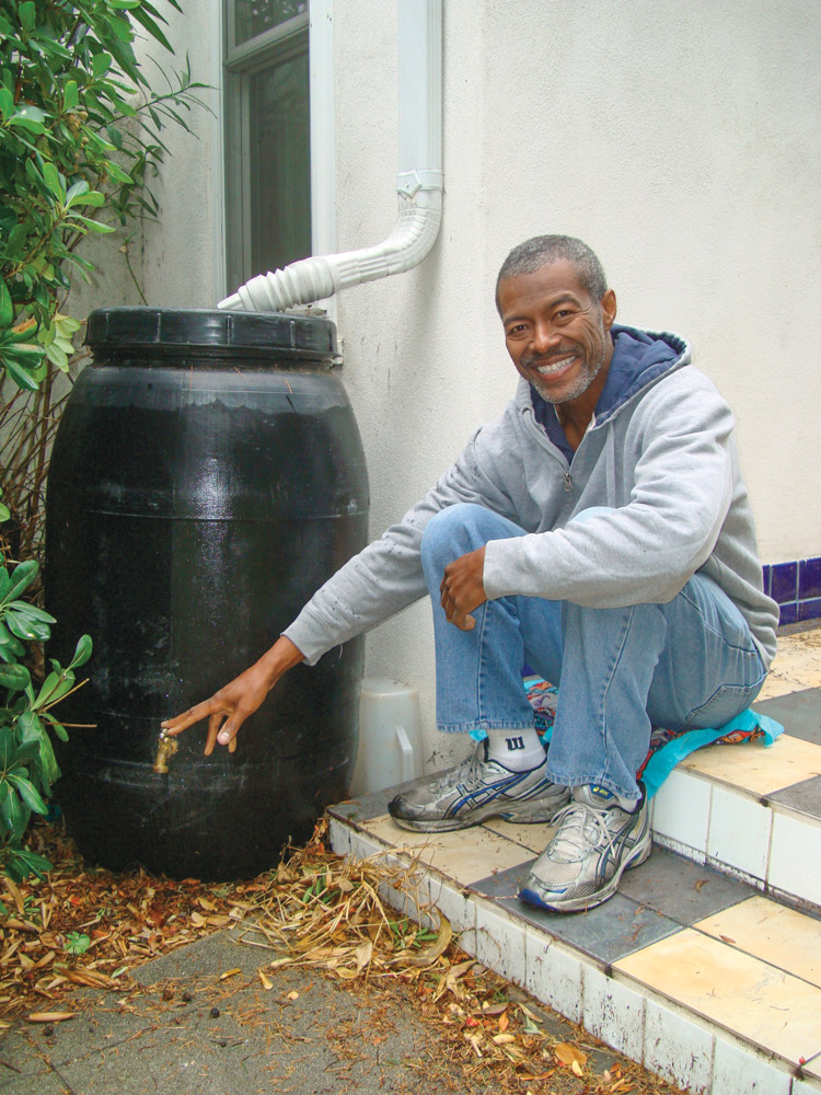 A rain collection system, such as Kevin Sutherland's, is a great addition to your backyard camp.