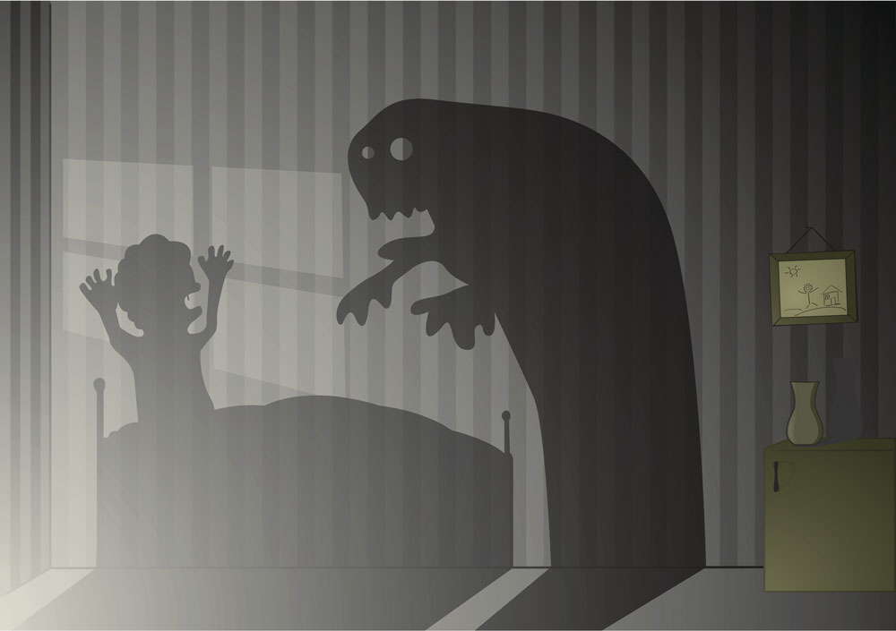 Thinking there's a possibility that monsters are hiding in the shadows is one reason children fear the dark.