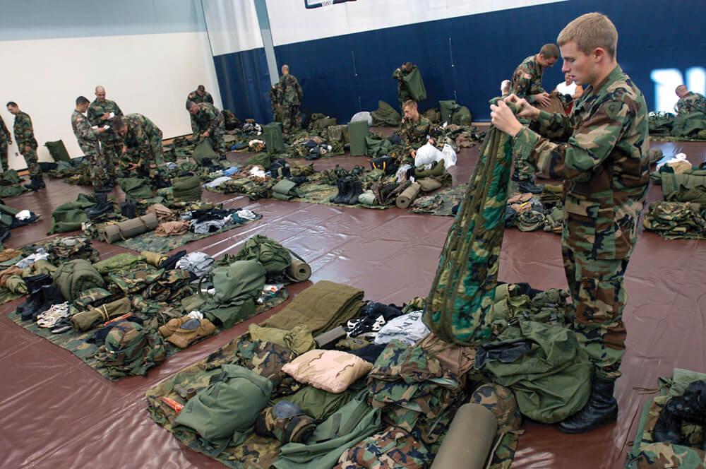 Soldiers often pack and repack their bags. Knowing what items you have and where they are lets you focus your attention on new and developing situations.