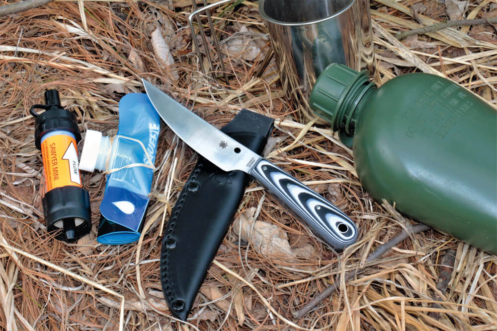 The Bow River is an affordable knife with a thin, trailing point blade and a comfortable handle