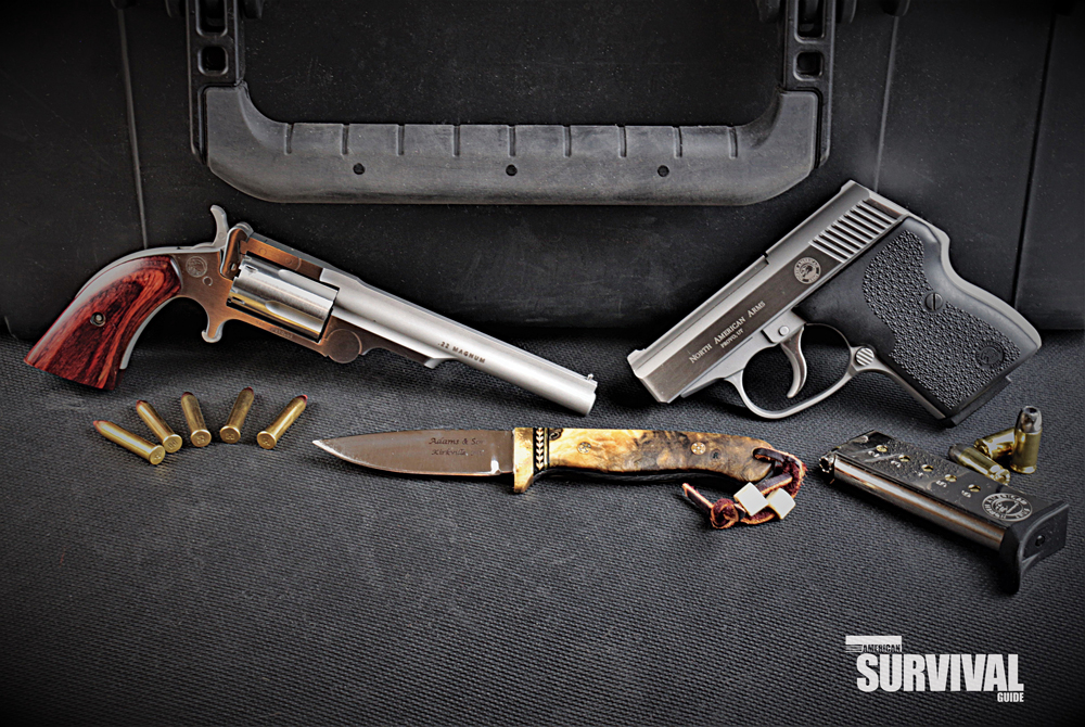 small North American Arms handguns