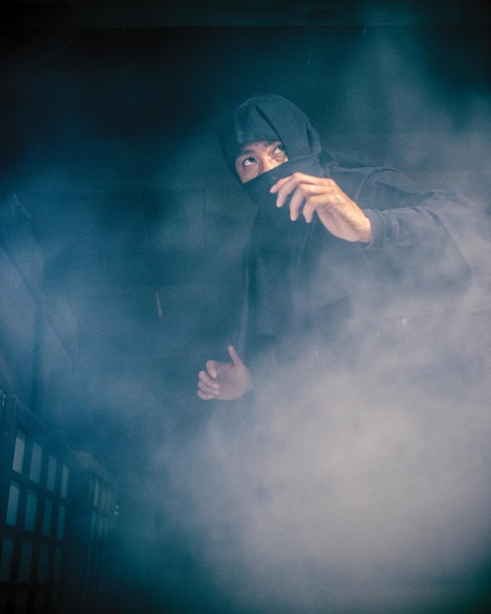 One of a ninja's rumored abilities was being able to disappear in a cloud of smoke or mist. Getty image