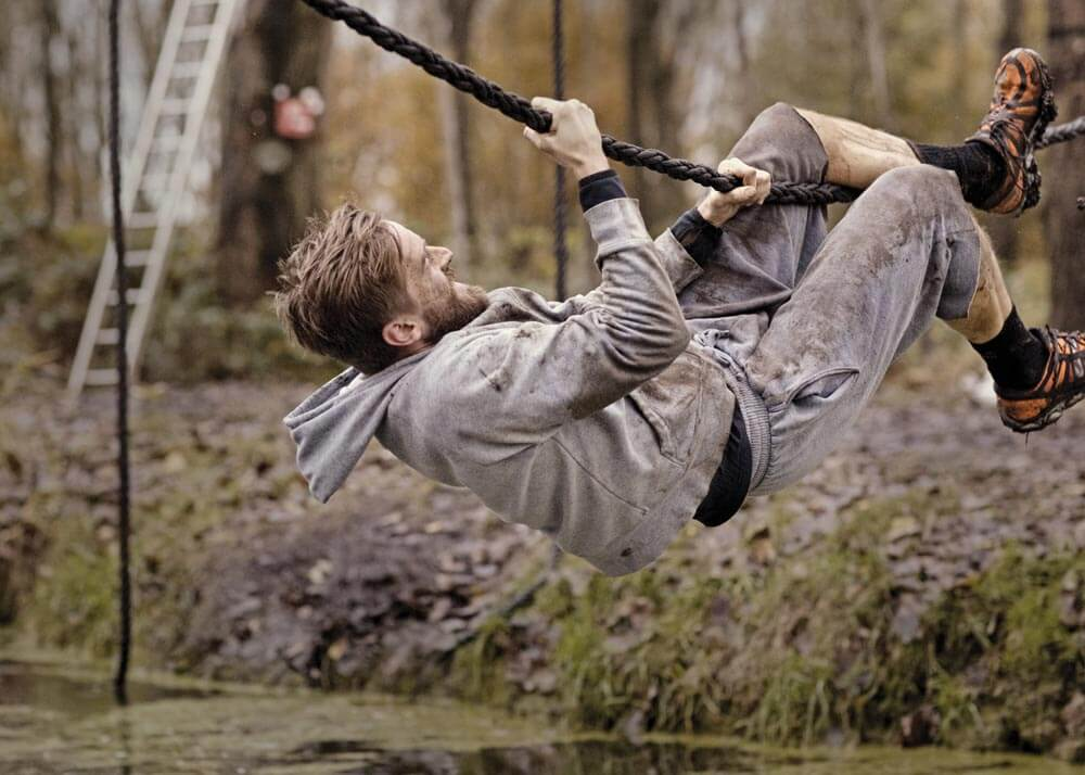 Obstacle courses such as this one aren't part of a typical ninja class,